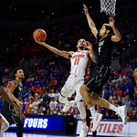 University of Florida Gators guard Chris Chiozza during the second half as the Gators win their SEC opener 81-74 over the Vanderbilt Commodres in Exactech Arena at the Stephen C. O'Connell Center in Gainesville, Florida.  December 30th, 2017. Gator Country photo by David Bowie.