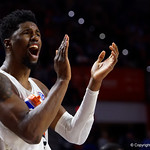 University of Florida Gators forward/center Kevarrius Hayes during the second half as the Gators win their SEC opener 81-74 over the Vanderbilt Commodres in Exactech Arena at the Stephen C. O'Connell Center in Gainesville, Florida.  December 30th, 2017. Gator Country photo by David Bowie.
