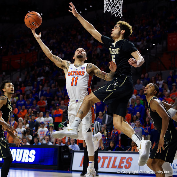 University of Florida Gators Mens Basketball 2017 Vanderbilt Commodores