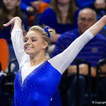 University of Florida Gators gymnist Alyssa Baumann performing her floor routine as the Gators host the University of Georgia Bulldogs in Exactech Arena at the Stephen C. O'Connell Center in Gainesville, Florida.  February 9th, 2018. Gator Country photo by David Bowie.