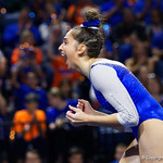 University of Florida Gators gymnist Rachel Slocum performing her floor routine as the Gators host the University of Georgia Bulldogs in Exactech Arena at the Stephen C. O'Connell Center in Gainesville, Florida.  February 9th, 2018. Gator Country photo by David Bowie.