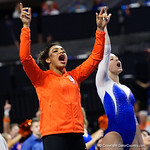 as the Gators host the University of Georgia Bulldogs in Exactech Arena at the Stephen C. O'Connell Center in Gainesville, Florida.  February 9th, 2018. Gator Country photo by David Bowie.