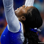 University of Florida Gators gymnist Alicia Boren performing her floor routine as the Gators host the University of Georgia Bulldogs in Exactech Arena at the Stephen C. O'Connell Center in Gainesville, Florida.  February 9th, 2018. Gator Country photo by David Bowie.