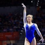 University of Florida Gators gymnist Alex McMurtry performing on the beam as the Gators host the University of Georgia Bulldogs in Exactech Arena at the Stephen C. O'Connell Center in Gainesville, Florida.  February 9th, 2018. Gator Country photo by David Bowie.