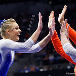 University of Florida Gators gymnist Alyssa Baumann performing on the beam as the Gators host the University of Georgia Bulldogs in Exactech Arena at the Stephen C. O'Connell Center in Gainesville, Florida.  February 9th, 2018. Gator Country photo by David Bowie.