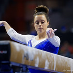 University of Florida Gators gymnist Grace McLaughlin performing on the beam as the Gators host the University of Georgia Bulldogs in Exactech Arena at the Stephen C. O'Connell Center in Gainesville, Florida.  February 9th, 2018. Gator Country photo by David Bowie.