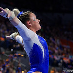 University of Florida Gators gymnist Jazmyn Foberg as the Gators host the University of Georgia Bulldogs in Exactech Arena at the Stephen C. O'Connell Center in Gainesville, Florida.  February 9th, 2018. Gator Country photo by David Bowie.