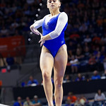 University of Florida Gators gymnist Rachel Gowey performing on the beam as the Gators host the University of Georgia Bulldogs in Exactech Arena at the Stephen C. O'Connell Center in Gainesville, Florida.  February 9th, 2018. Gator Country photo by David Bowie.