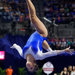 University of Florida Gators gymnist Amelia Hundley on the beam as the Gators host the University of Georgia Bulldogs in Exactech Arena at the Stephen C. O'Connell Center in Gainesville, Florida.  February 9th, 2018. Gator Country photo by David Bowie.