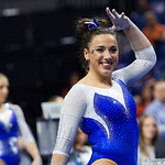 University of Florida Gators gymnist Amelia Hundley performing her floor routine as the Gators host the University of Georgia Bulldogs in Exactech Arena at the Stephen C. O'Connell Center in Gainesville, Florida.  February 9th, 2018. Gator Country photo by David Bowie.