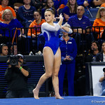 University of Florida Gators gymnist Rachel Gowey performing her floor routine as the Gators host the University of Georgia Bulldogs in Exactech Arena at the Stephen C. O'Connell Center in Gainesville, Florida.  February 9th, 2018. Gator Country photo by David Bowie.