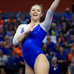 University of Florida Gators gymnist Megan Skaggs as the Gators host the University of Georgia Bulldogs in Exactech Arena at the Stephen C. O'Connell Center in Gainesville, Florida.  February 9th, 2018. Gator Country photo by David Bowie.