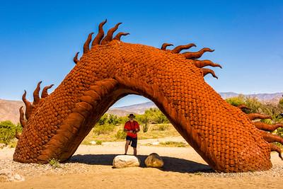 Dragon metal sculptures at Anza-Borrego State Park in California
