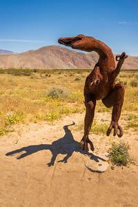 Raptor metal sculpture at Anza-Borrego State Park in California