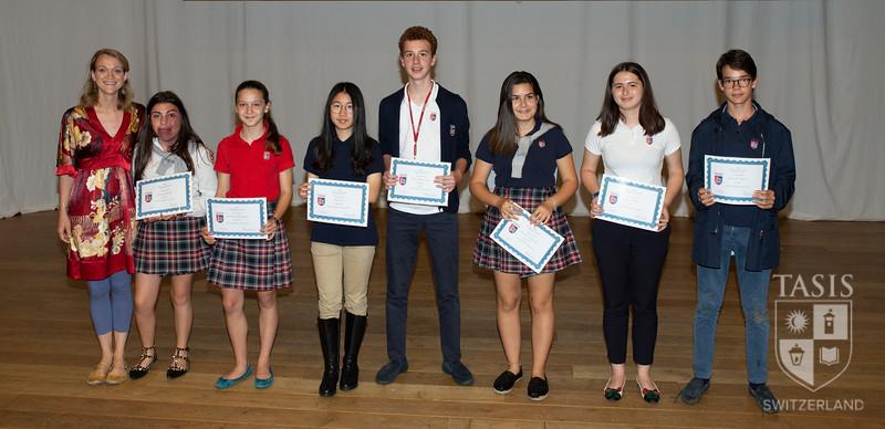 TASIS Middle School Spring Awards