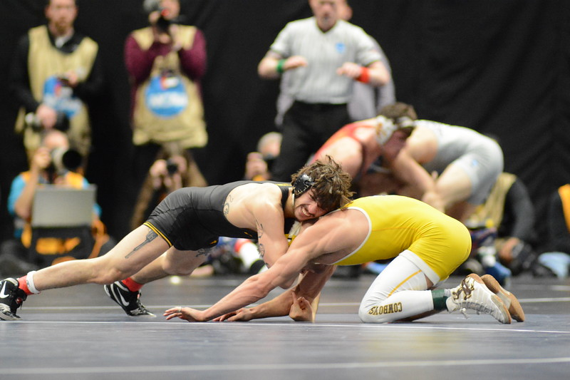 2018 NCAA Division I Championships<br /> 141 - Bryce Meredith (Wyoming) won by decision over Vincent Turk (Iowa) (Dec 5-2)