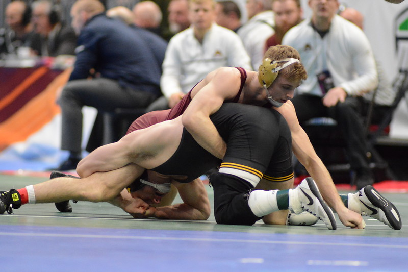 2018 NCAA Division I Championships<br /> 165 - Alex Marinelli (Iowa) won by fall over Nicholas Wanzek (Minnesota) (Fall 6:15)