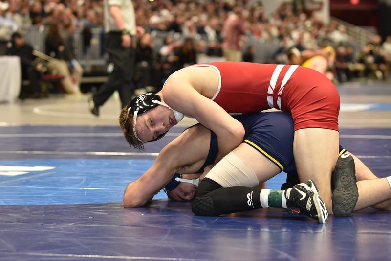 2018 NCAA Division I Championships<br /> 165 - Evan Wick (Wisconsin) won by decision over Logan Massa (Michigan) (Dec 9-6)