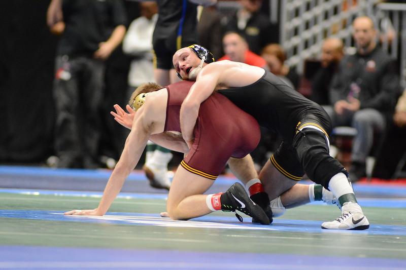 2018 NCAA Division I Championships<br /> 165 - Alex Marinelli (Iowa) won by fall over Nicholas Wanzek (Minnesota) (Fall 6:15)