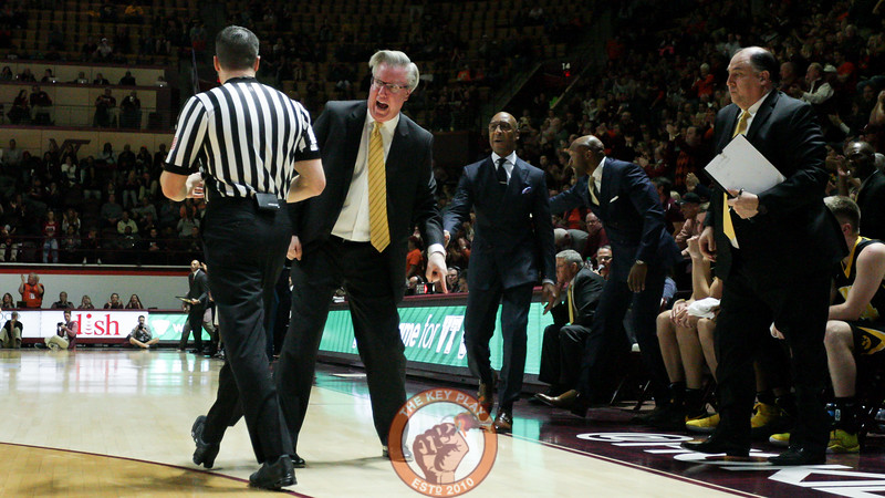 Iowa head coach Fran McCaffery yells at a referee after a call went against his team. He was awarded a technical foul. (Mark Umansky/TheKeyPlay.com)