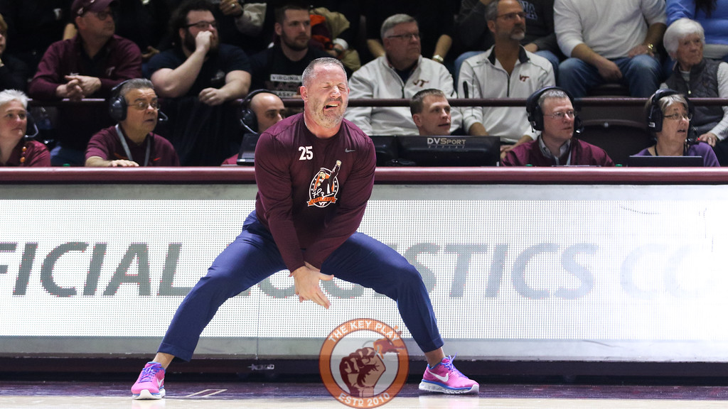 Buzz Williams reacts to an easy UNC basket in the second half. (Mark Umansky/TheKeyPlay.com)
