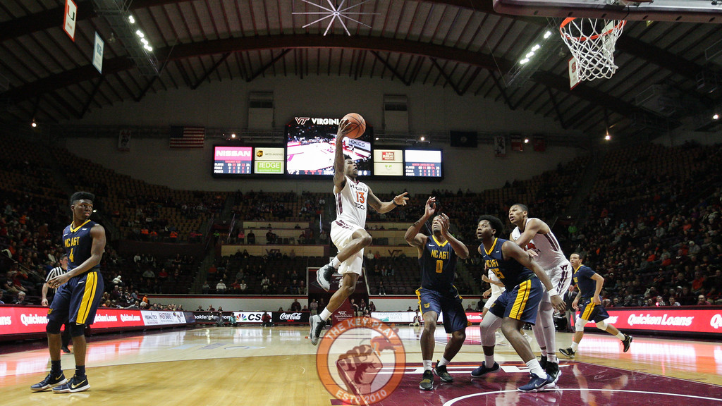 Ahmed Hill jumps from outside the paint on a layup attempt in the first half. (Mark Umansky/TheKeyPlay.com)