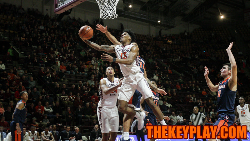 Ahmed Hill flies towards the basket for a layup attempt. (Mark Umansky/TheKeyPlay.com)