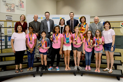 "Whitestone Elementary DI Team, ""#performlikeaBOSS,"" recognized for finishing 3rd out of 52 teams in the Scientific Unlikely Attraction Elementary O Level at the Global Destination Imagination Competition. Team members include Angie Simmons, Avery Linden, Katelyn Hutmacher, Kiana Thompson, Maya Reddy, Madison Riccio and Payton Ortega. Team managers include Suzi Simmons and Simi Khurana."