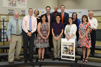 Vista Ridge student Kyle Ma, recognized for earning a perfect score on the AP Studio Art: 2-D Design Portfolio Exam. Kyle is one of only nine students in the world that earned every point possible, receiving the maximum score on each portion of the exam.