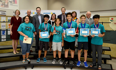 "VHS Team 1, ""7 Deadly Syns,"" recognized for finishing 19th out of 52 teams in Technical Maze Craze HS Level at the Global Destination Imagination Competition. Team members include Lars Spinetta, Cristina Spellings, Nidhi Katta, Alexander Rapier, Adrian Rapier, Eric Chan and Nick Chan. Team managers include Martha Montemayor-Rapier and Edward Rapier."