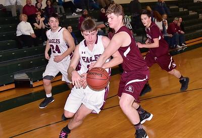 AMHS Boys Varsity Basketball Playdown vs BR photos by Gary Baker