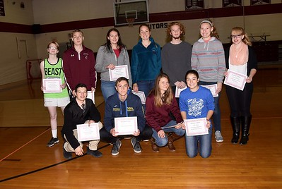 AMHS First Quarter Honor Recipients photos by Gary Baker