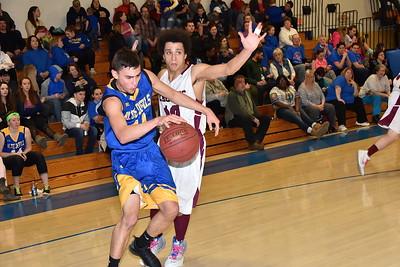 AMHS Varsity Boys Basketball vs Poultney photos by Gary Baker