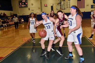 AMHS Varsity Girls Basketball vs Granville photos by Gary Baker