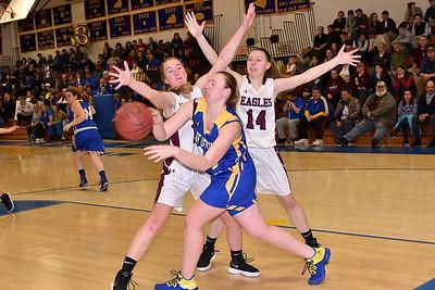 AMHS Varsity Girls Basketball vs Poultney photos by Gary Baker