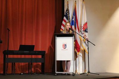 Ms. Maritere Matosantos hosts the Academic Awards Ceremony