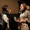 Cindy Chew<br /> 2/15/18<br /> Rebecca Upham, Head of School at BB&N, speaks with Natasha Sommerfeld, Class of '10 at the annual BB&N San Francisco alumni event.