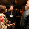 Cindy Chew<br /> 2/15/18<br /> Rebecca Upham, Head of School at BB&N, speaks with Brad Murray, Class of '93, Aaron Ratner, Class of '93, and Haden Ware, Class of '93, from left, at the annual BB&N San Francisco alumni event.