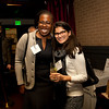 Cindy Chew<br /> 2/15/18<br /> Lily Lacoste, Class of '97, and Natasha Sommerfeld, Class of '04, gather for the annual BB&N San Francisco alumni event.