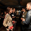 Cindy Chew<br /> 2/15/18<br /> Rebecca Upham, Head of School at BB&N, speaks with Haden Ware, Class of '93, at the annual BB&N San Francisco alumni event.