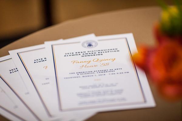 Distinguished Alumna Reception 2018