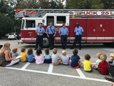 Fire Department Visits Preschool