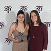 Women's Soccer Coaches Encouragement award winner, Mariah Beskers & Coach Jordan McConnell