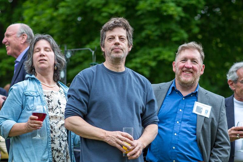 Mike Brower '63,    Dirck Geithner '81, Patrick Cunningham '80