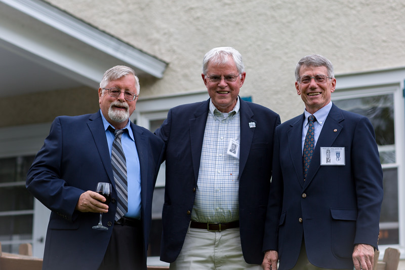 Stuart Wilson '63, Bill McDonald '64 and Phil Cameron '64