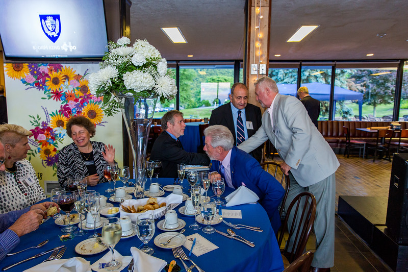 Gere Riley, Toni Scherrer, Headmaster Jon Lamb, Roger Auerbacher '66, Fred Sopher '58 and Balazs Szabo '63