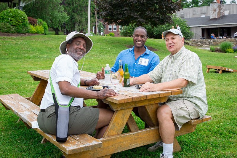 Joe Phillips '85, Malcolm Phillips '87 and Dee Kolewe (Past Faculty)