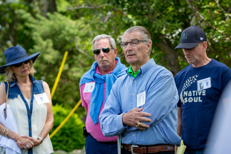 Ellen Shinsky, Mitchel Hisiger '58, Phil Riley, Scott Cantor '73