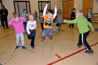 Pre-K Jumps Rope For Heart photos by Gary Baker