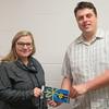 Housing Survey Best Buy Gift Card Winner - Deanna with Student President, Scott Rook